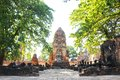 Old temple in thailand ayutthaya Stock Images
