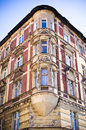 Old tenement house corner of Stock Images
