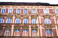 Old tenement house wall made by brick Stock Images