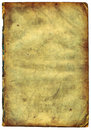 Old textured paper with decrepit edge (scan). Royalty Free Stock Photography