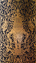 Old Thai style painting art in thai temple Royalty Free Stock Photo