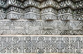 The old thai style stucco wall in buddha park sala kaeo ku thailand Stock Image