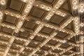 Old Theater Marquee Ceiling Lights Royalty Free Stock Photo