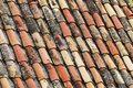 An old tile roof Stock Photo