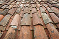 Old tile roof Royalty Free Stock Photography