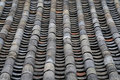 Old Tile Roof of Traditional Korean Architecture Royalty Free Stock Photo
