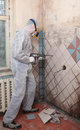 Old tiles removal Royalty Free Stock Photo