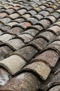 Old tiles on a roof top Royalty Free Stock Photo