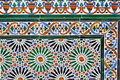 Old tiles wonderful at a wall in ronda andalusia spain Stock Photo