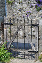 Old timber and metal gate Stock Photography