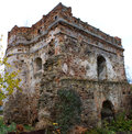 Old time castle xvi ages ostrog ukraine tower castle if ostrog ukraine Royalty Free Stock Photo