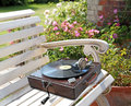 Old time vintage phonograph record player Royalty Free Stock Photo