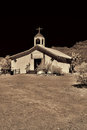 Old time western wooden church Royalty Free Stock Photos