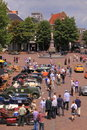 Old timer car show deventer Royalty Free Stock Image