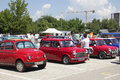 Old timer skopje macedonia june unrecognizable people look around vintage cars on th car show the event organized by euroimpex Stock Photo
