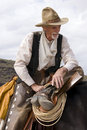 Old Timer Western Cowboy Roper Royalty Free Stock Photo