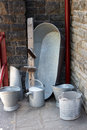An old tin bucket Royalty Free Stock Photo