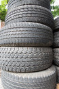 Old tire discard black stack Royalty Free Stock Photos