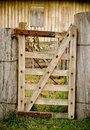 Old tired rural farm gate Royalty Free Stock Image