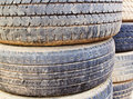 Old tires background Stock Image