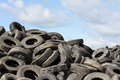 Old Tires and blue sky Royalty Free Stock Image