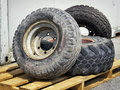 Old tires heap of used Royalty Free Stock Images