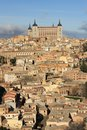 Old toledo town former capital spain famous alcazar Stock Photos