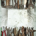 Old tools Stock Photo