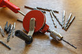 Old tools for construction of the house do not require electricity Royalty Free Stock Photo