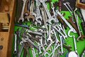 Old tools at flea markets many of the and the keys to the market is waiting for customers Royalty Free Stock Photos