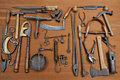 Old tools four Stock Image