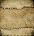 Old torn paper vintage map background nautical theme Stock Photography