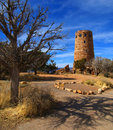 Old tower at grand canyon viewpoint Stock Photos