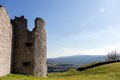 Old tower ruin an with a beautiful view of the landscape Royalty Free Stock Images