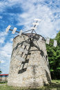 Old tower windmill in Holic, Slovakia, vertical composition