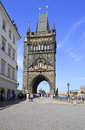 Old town bridge tower charles bridge in prague Stock Photography
