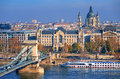 Old town of Budapest on Danube river, Hungary Royalty Free Stock Photo