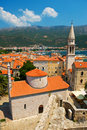 Old town budva city montenegro Royalty Free Stock Images