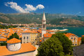 Old town budva city montenegro Stock Photography