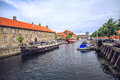 Old Town and canal in Copenhagen, Denmark in a summer day Royalty Free Stock Photo