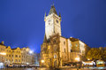 Old town city hall in prague night view view from old town square czech republic Royalty Free Stock Photos