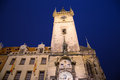 Old town city hall in prague night view view from old town square czech republic Stock Photography