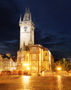 Old Town City Hall in Prague, view from Old Town Square, Czech R Royalty Free Stock Photo
