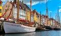 Old town at Copenhagen, Denmark Royalty Free Stock Photo