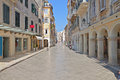 Old town of corfu island in greece the piazza at the Stock Image