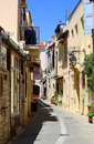 Old town in crete street the Royalty Free Stock Image