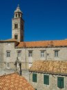 Old town in dubrovnik and bell tower croatia Royalty Free Stock Image