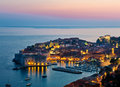 Old town of dubrovnik croatia the on the adriatic sea unesco world heritage site Royalty Free Stock Image