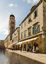 Old town dubrovnik croatia may people walking down the main street in the of at night pedestrian zone in an european Royalty Free Stock Photo
