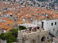 Old town Dubrovnik Croatia, well kept medieval stone buildings Royalty Free Stock Photo